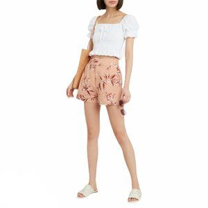 NWT Joie Farron Linen Shorts In Warm Blush Pink 00